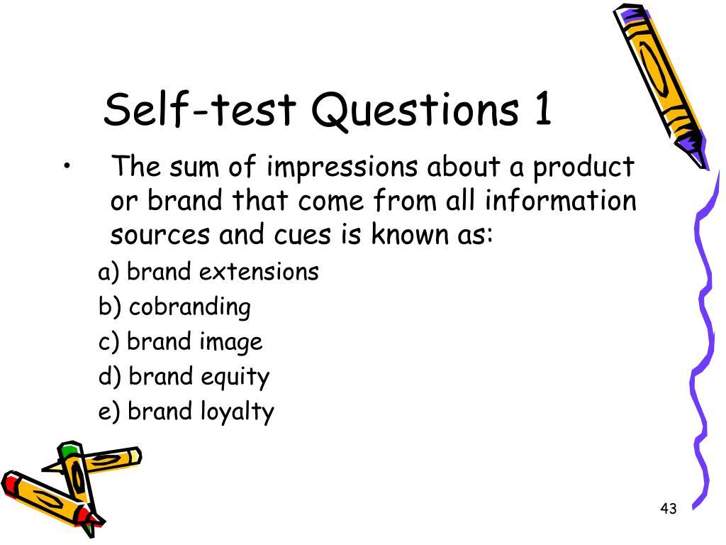 Self-test Questions 1