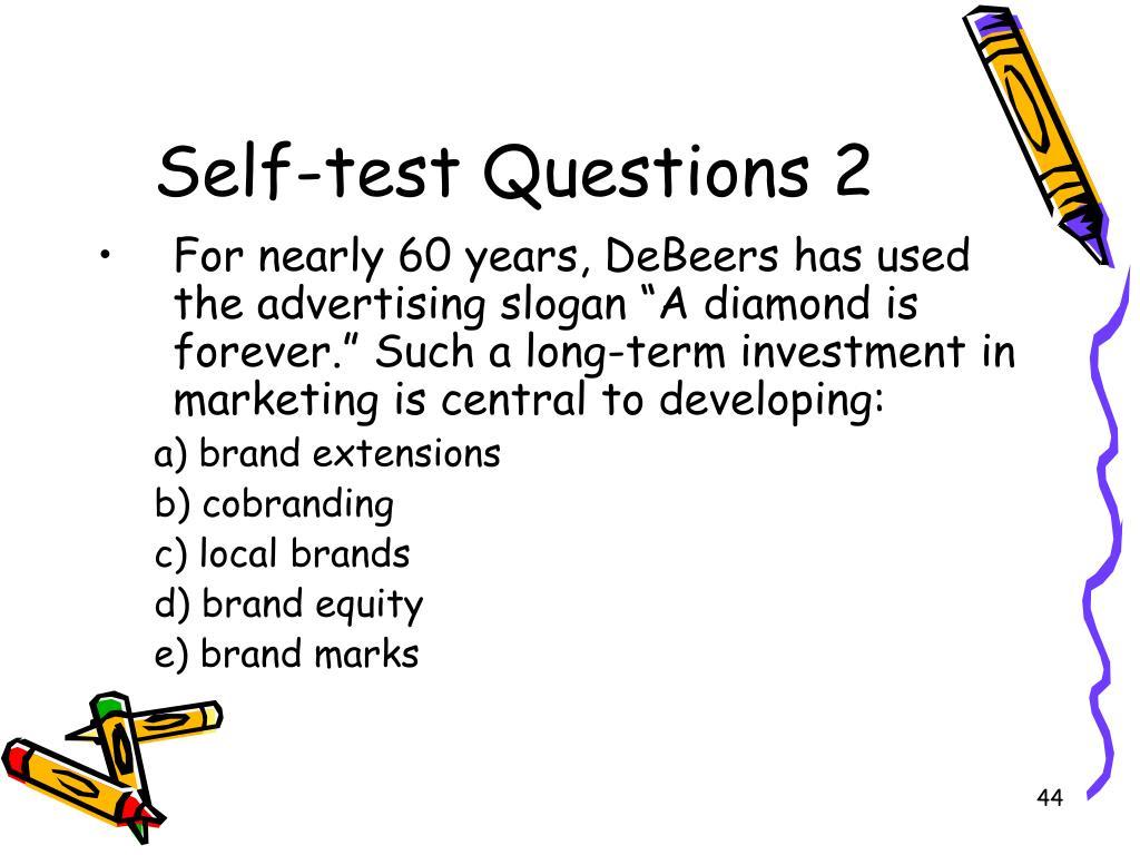 Self-test Questions 2