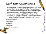 self test questions 3