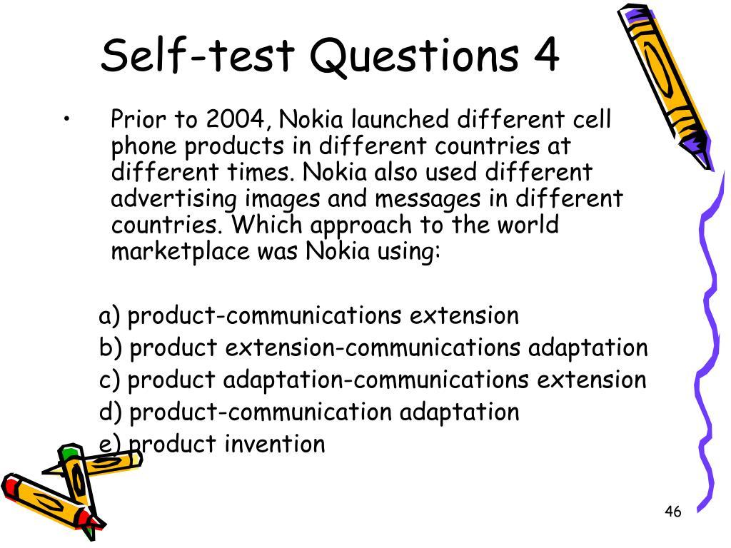 Self-test Questions 4