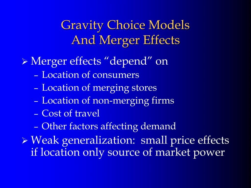 Gravity Choice Models