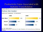 productivity gains associated with industry consolidation
