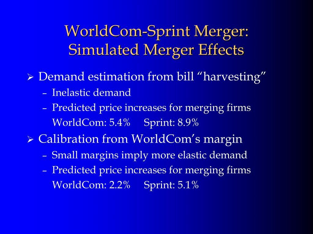 WorldCom-Sprint Merger: