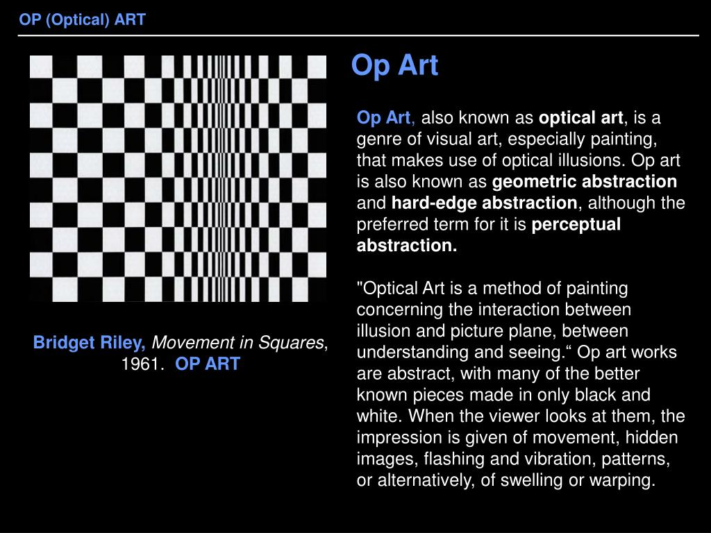 Top op art powerpoint templates, backgrounds, slides and ppt themes.