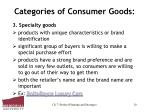 categories of consumer goods10