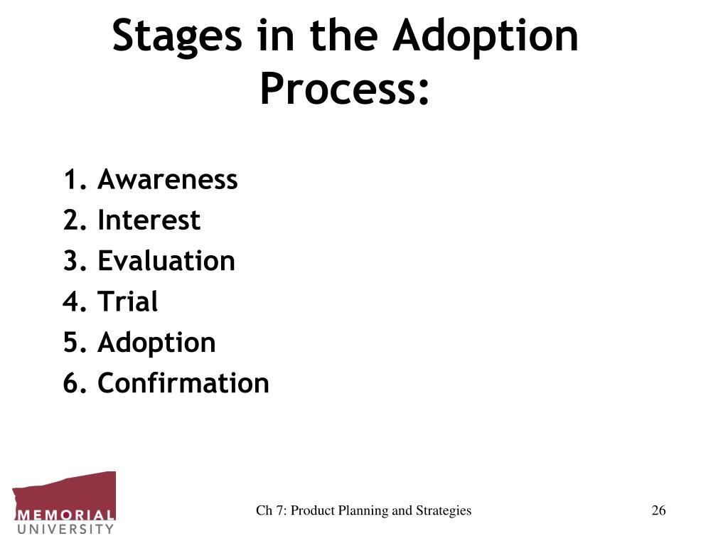 Stages in the Adoption Process:
