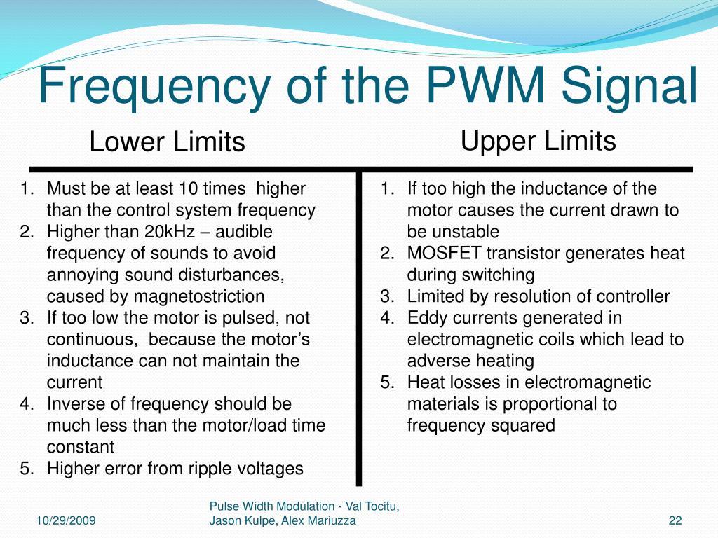PPT - Pulse Width Modulation PowerPoint Presentation - ID:768947