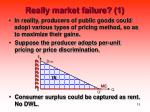 really market failure 1