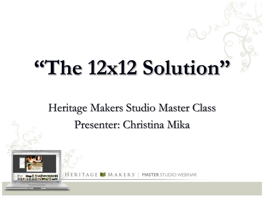 the 12x12 solution l.
