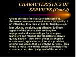 characteristics of services cont d14