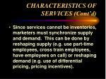 characteristics of services cont d15
