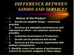 difference between goods and services