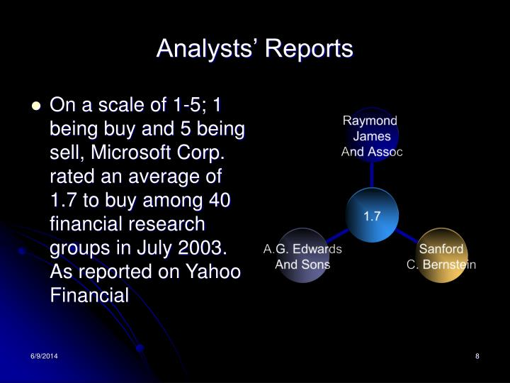 Analysts' Reports