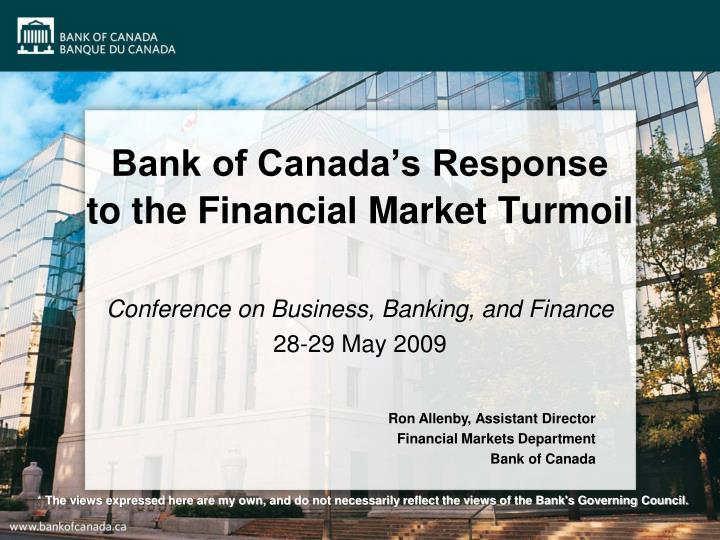 an overview of the financial issues of canada Introductory sections provide an overview of the business and its industry financial ratios convenience stores essential appraisal issues robert e.