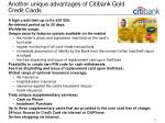 another unique advantages of citibank gold credit cards
