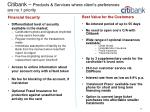 citibank products services where client s preferences are no 1 priority