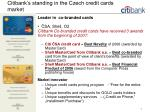 citibank s standing in the czech credit cards market