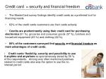 credit card security and financial freedom