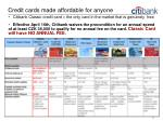 credit cards made affordable for anyone