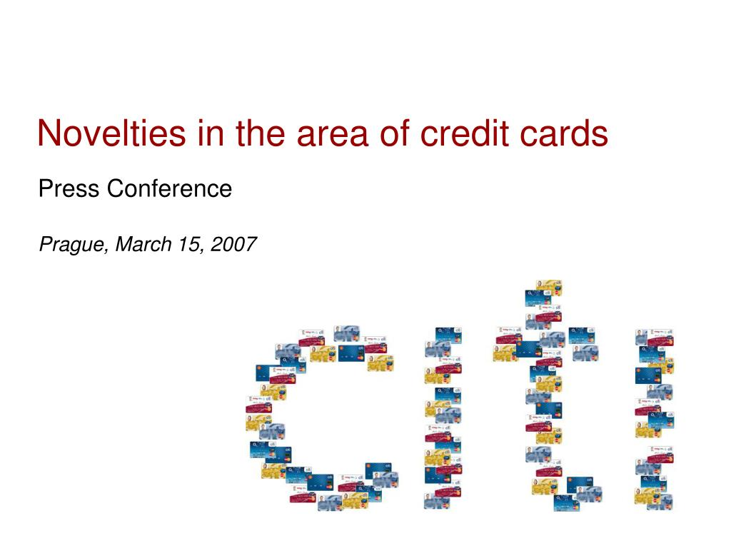 novelties in the area of credit cards l.