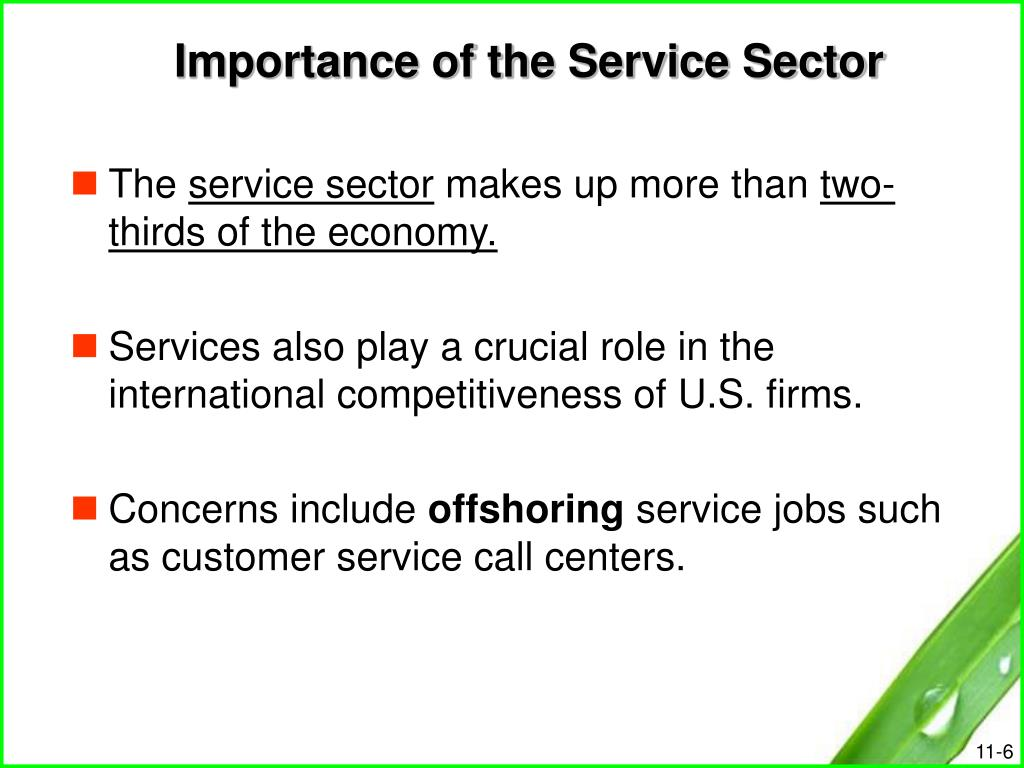 Importance of the Service Sector