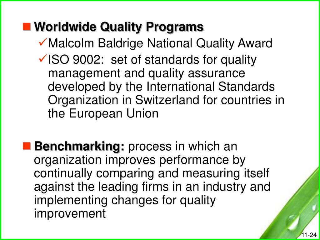 Worldwide Quality Programs