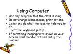 using computer
