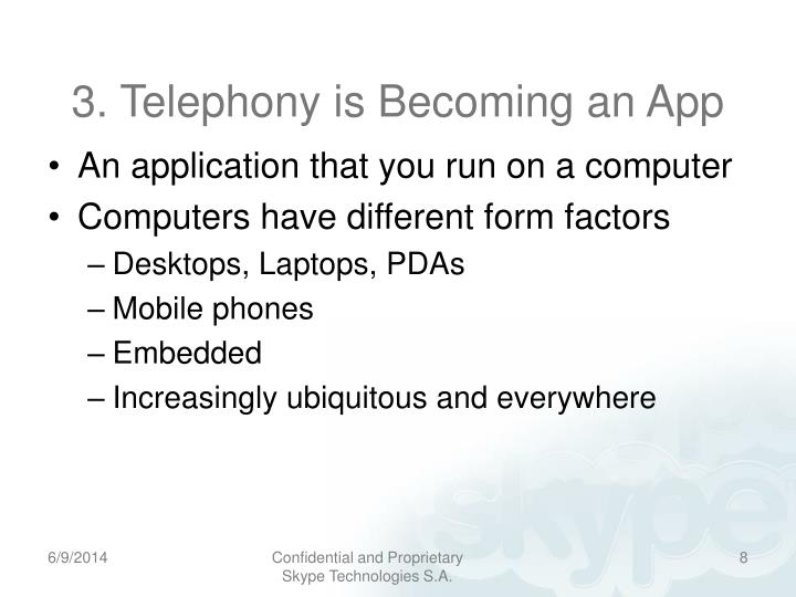 3. Telephony is Becoming an App