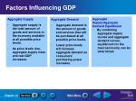factors influencing gdp