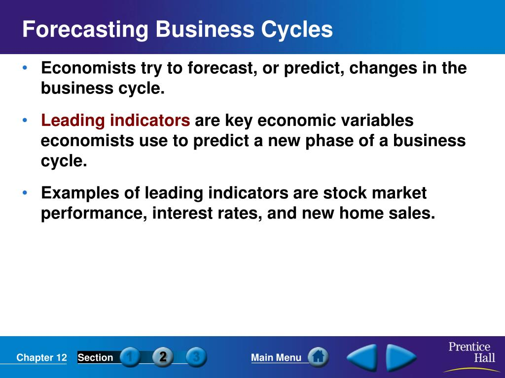 Forecasting Business Cycles