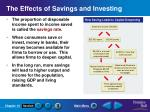 the effects of savings and investing