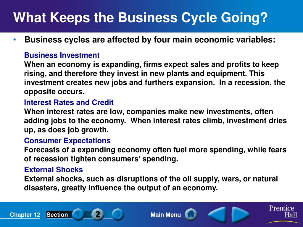 What Keeps the Business Cycle Going?