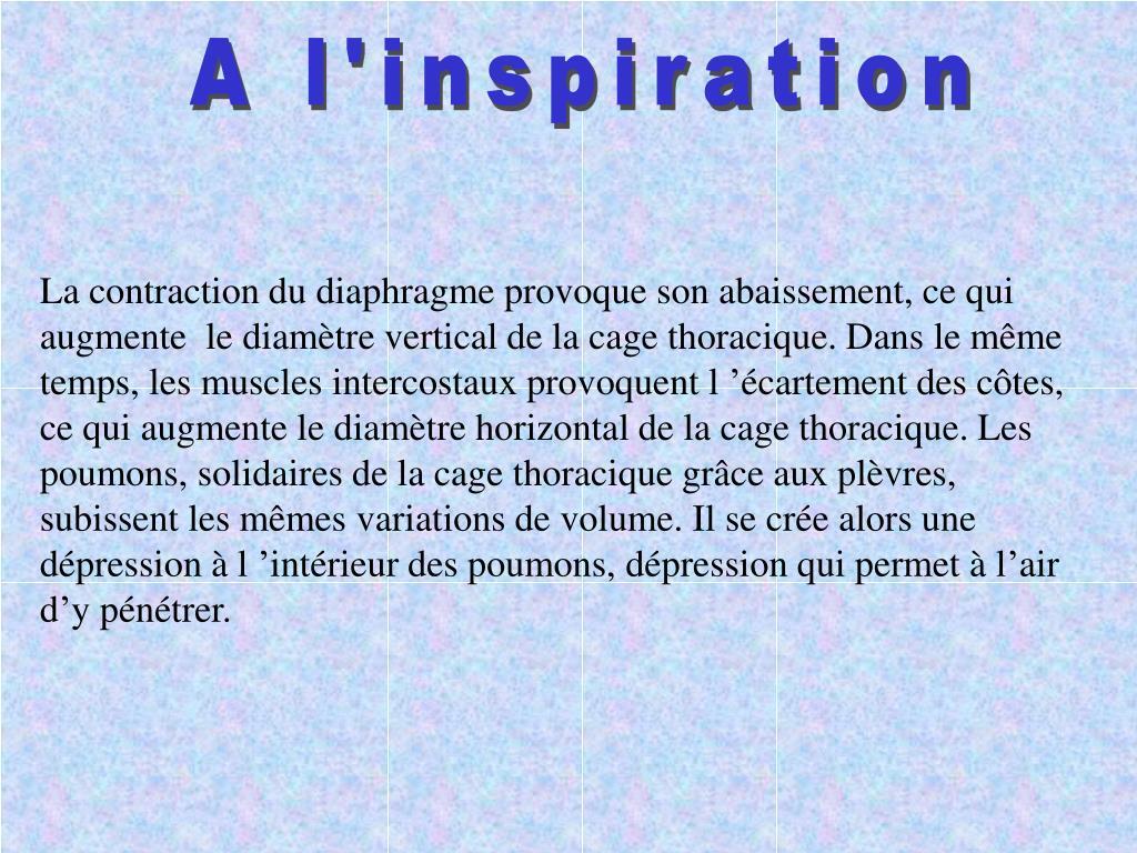 A l'inspiration