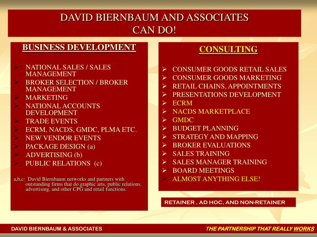 DAVID BIERNBAUM AND ASSOCIATES