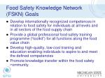 food safety knowledge network fskn goals