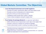 global markets committee the objectives