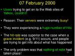 07 february 2000