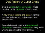 dos attack a cyber crime