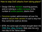 how to stop dos attacks from taking place