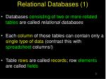 relational databases 1