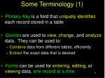 some terminology 1