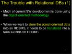 the trouble with relational dbs 1