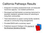 california pathways results