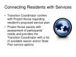 connecting residents with services