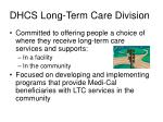 dhcs long term care division