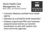 home health care management inc butte glenn and tehama counties