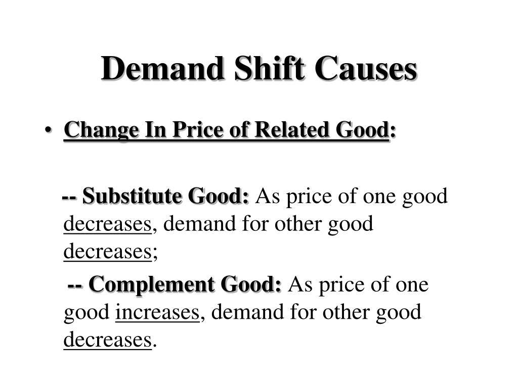 Demand Shift Causes