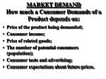market demand how much a consumer demands of a product depends on