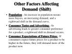 other factors affecting demand shift