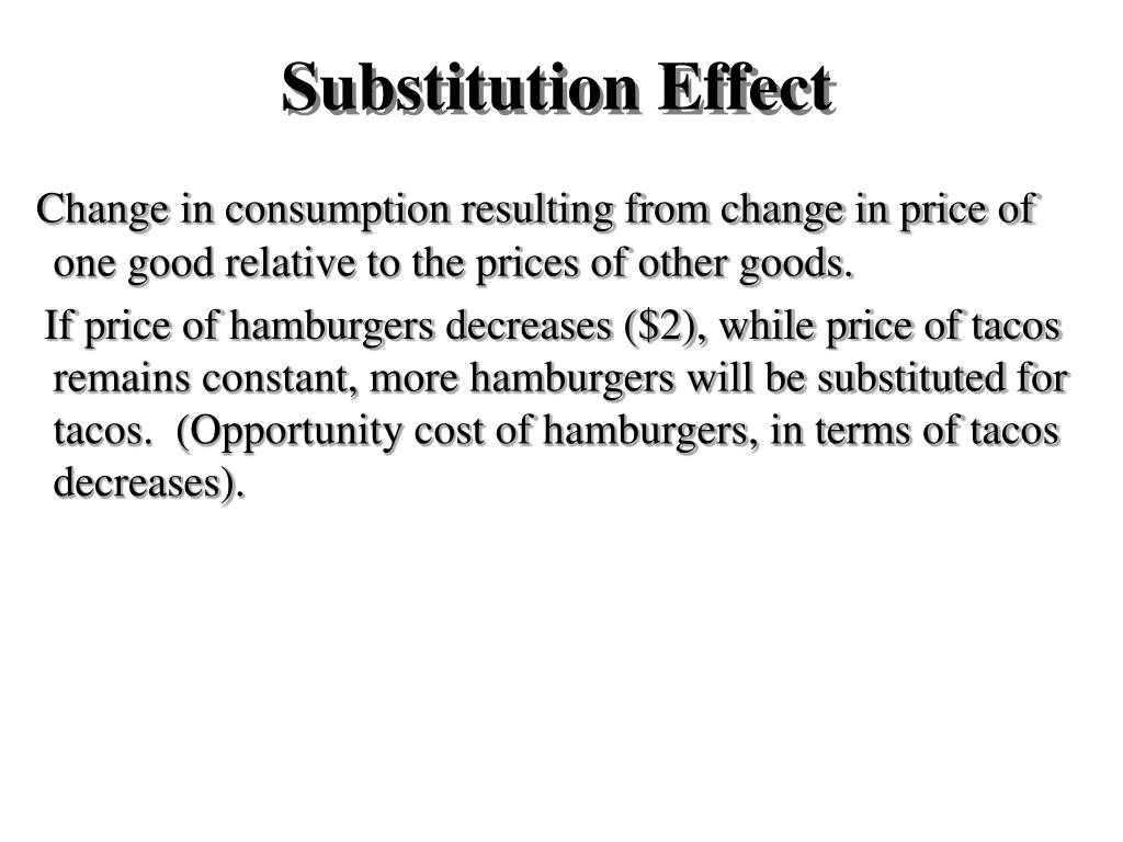 Substitution Effect